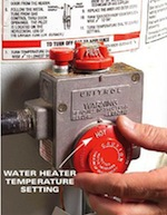 Eco-Tip #7: Lower the temperature of your hot water heater