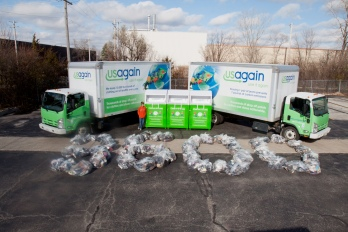 12-year-old EcoErek collects over 3,600 pairs of shoes for recycling or reuse with USAgain